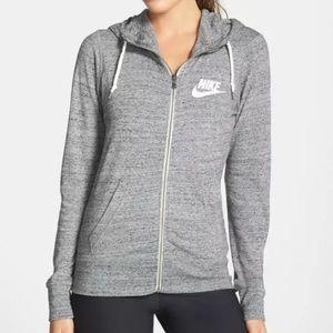{Nike} gray Gym Vintage Full Zip Up Hoodie Sz M